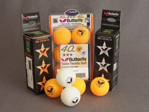 3-Pack Butterfly 3-Star Premium Balls