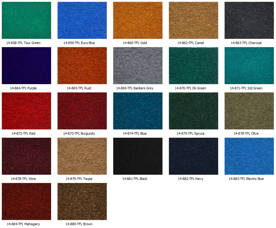 Perma Guard Color Swatches
