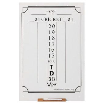 Viper Cricket Dry Erase Scoreboard- Large