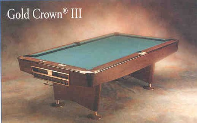 PreOwned Ft Brunswick Gold Crown III AcCueRate Billiards - Brunswick gold crown pool table