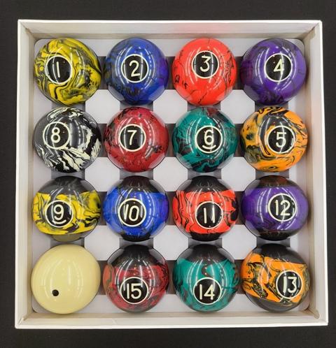 Koda Marble Pool Balls